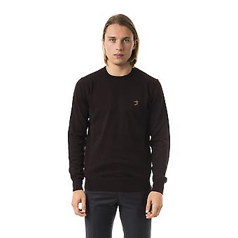 Uominitaliani Moro Crew Neck Brown Extrafine Wool Sweater