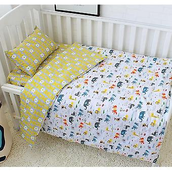 Cotton Crib Bed Linen Kit For, Cartoon Baby Bedding Set With Pillowcase