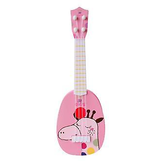 Módne deti zvierat Ukulele malá gitara hudobný nástroj vzdelávacie hranolky