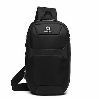Portable Grande Capacité Multi-function Man Chest Bag, Waterproof Anti-theft Usb