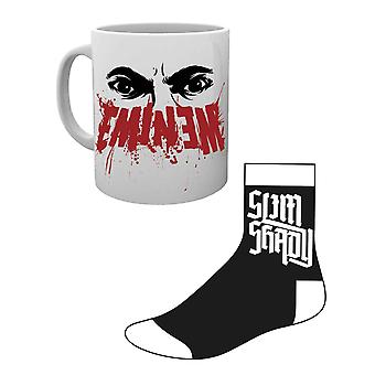 Eminem Mug and Socks Gift Set Slim Shady Logo new Official
