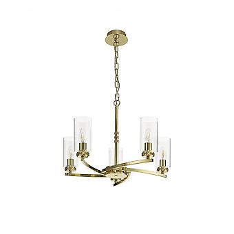 Nina Pendant/semi Ceiling, 5 X E14, Polished Gold