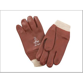 Kent & Co Twines Glove PVC Knitwrist Red 8.5in Medium