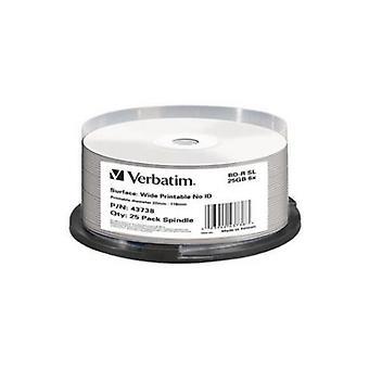 Verbatim Blu Ray Bd R 25Pk 25Gb 6X Ax