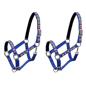 Horse-collar 2 piece nylon size warm blood blue