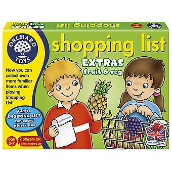 Orchard Toys Shopping List Booster Pack - Fruit & Veg - New Look