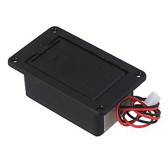 6,9 cm lengte Black Flat Mounting Battery Case Cover voor gitaarbasmuziekonderdelen