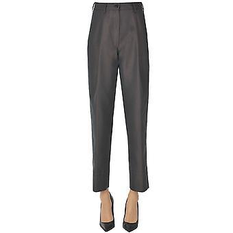 Dries Van Noten Ezgl093200 Women's Grey Cotton Pants