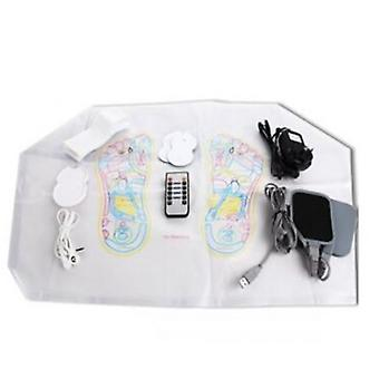 Electromagnetic Wave Pulse Circulation Foot Massager Reflexology Booster 8 pad
