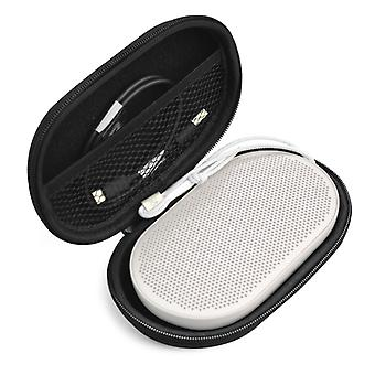 2 PCS For B&O BeoPlay P2 Portable Bluetooth Speaker Protective Bag with Carabiner(Black)