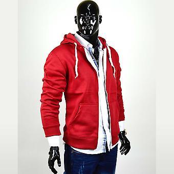 Menns Hettejakke Zip hettegenser svette jakke genser Basic