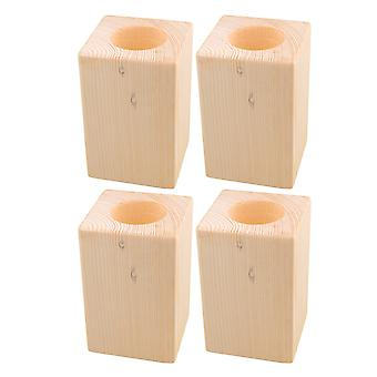 4PCS 4InchLift Height Furniture Table Lifter Bed Riser Fit 5cm Round Feet