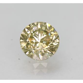 Cert 1.07 Karaat Fancy Yellow SI1 Ronde Brilliant Enhanced Natural Diamond 6.3mm