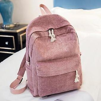 Beibaobao Preppy Style Soft Fabric Backpack