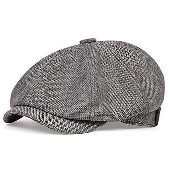 Spring/autumn Thin Retro Beret Hat, Fashion Casual Unisex Wild Octagonal Hats