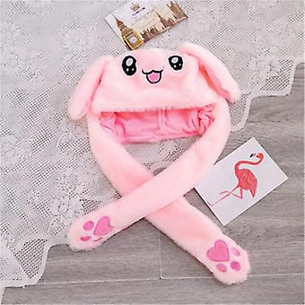 Anime For Bunny Fuzzy Pinch Airbag Hat Ears Moving Plush