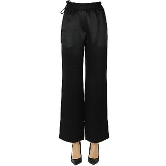 Acne Studios Ezgl151086 Women's Black Satin Pants