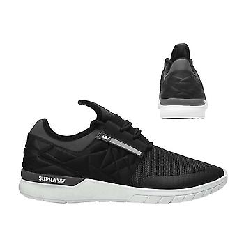 Supra Flow Run Evo Lace Up Mens Casual Running Trainers Black 08342 094 B67A