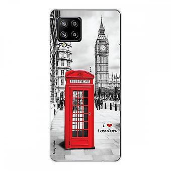 Scafo per Samsung Galaxy A42 5g in silicone flessibile 1 mm, Londra