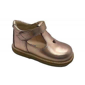 ANGULUS Velcro Tbar Shoe Rose Gold