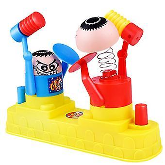 Förälder och barn strid - dubbel kamp skurk leksak