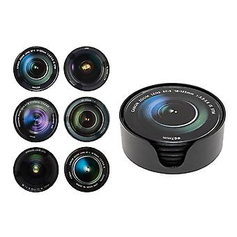 Camera Lens Coaster Set of 6