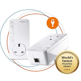 Devolo magic 2-2400 lan starter kit: stable home working, powerline starter kit up to 2400 mbps for