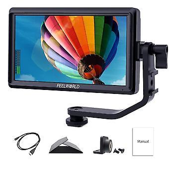 Feelworld s55 5.5 inch on camera dslr field monitor small full hd 1280x720 ips video assist peaking