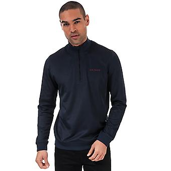 Hommes's Ted Baker Ryda Half Zip Sweatshirt in Blue