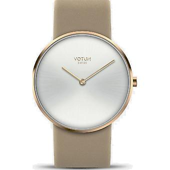 VOTUM - Ladies watch - CIRCLE - Pure - V01.20.40.04 - Leather strap - beige