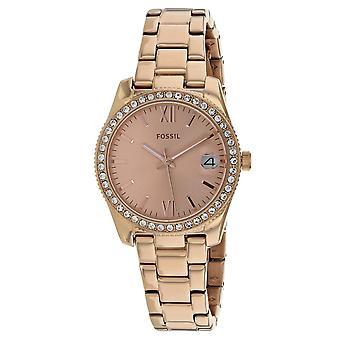 Fossil Women's Scarlette Rose Gold Dial Watch - ES4318