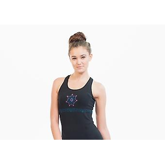 Namaste Black Seamless Yoga Top, Moisture Wicking, Supported