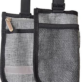 Dobbeltsidig hengepose egnet for rullestoler (grå)