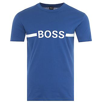 BOSS Bodywear Sustainable Slim Fit UV-Protection T-Shirt - Cobalt Blue
