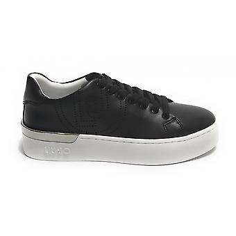 Shoes Woman Liu-jo Sneaker Mod. Silvia In Ecopelle Color Black Ds21lj14
