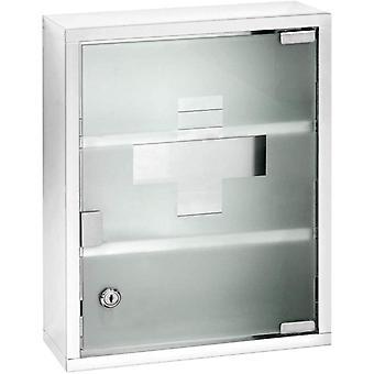 WENKO Chest-Medicine Cabinet, Lockable, Stainless steel, Silver Shiny, 12 x 30 x 40 cm