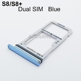 Enkele dual metal plastic nano sim-kaart lade slot houder voor Samsung Galaxy S8