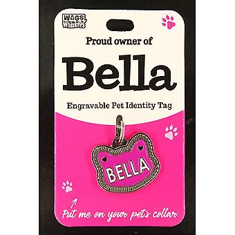 Wags & Whiskers Pet Cat Identity Tag - Bella