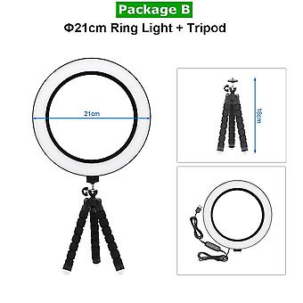 Fotografering Dimbar Usb Led Selfie Ring Light, Makeup Photo Studio Lamp, Video