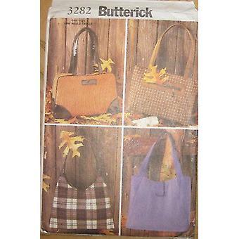 Butterick نمط الخياطة 3282 يفتقد 4 أنماط حقائب حقائب أكياس حجم واحد