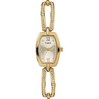 Timex Gold-Tone Bangle Ladies Watch TW2T58300