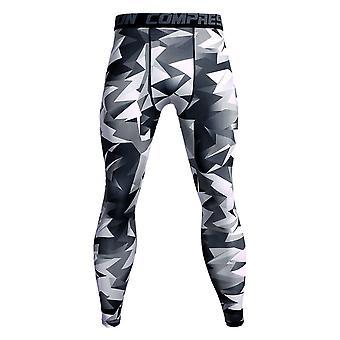YANGFAN الرجال اللياقة البدنية الرياضة اليوغا السراويل عالية تمتد سريعة التجفيف Sweatpants