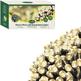 200 LED Solar String Lights - Warm White