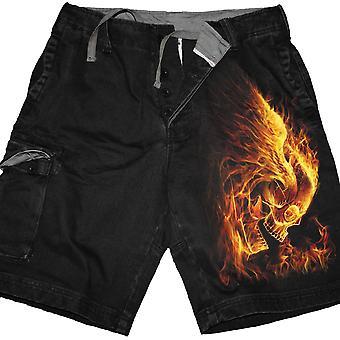 Burn In Hell - Vintage Cargo Shorts Black