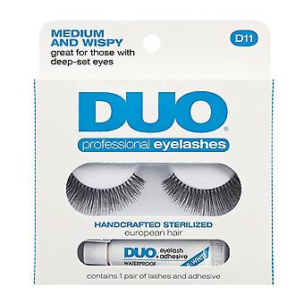 Duo D11 Medium & Wispy Eye Lash & Adhesive Glue Kit - 100% människohår