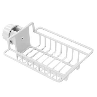 Verstellbarer Korb für Dusche und Küche - Weiß