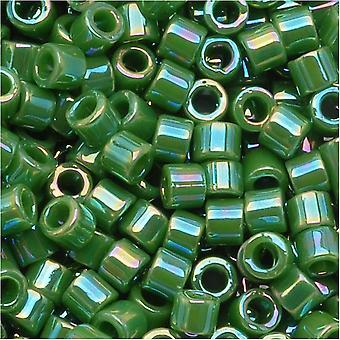 Perline di semi Miyuki Delica, taglia 10/0, 8 grammi, verde opaco AB DBM0163