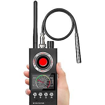 الماسح الضوئي كاسحة جاسوس سيارة لاسلكية GPS مسح كاشف المضادة للتسلل، مكافحة المراقبة لقطة كاشف وتحديد المواقع كاميرا كاشف مكافحة التجسس (أسود)