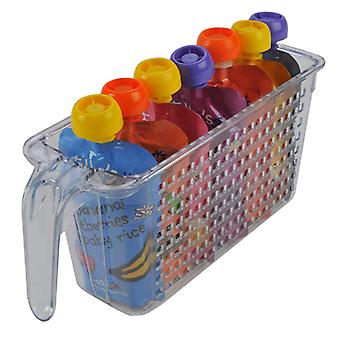 Novo Organisers Set of 4 Individual Tall Baskets, Clear
