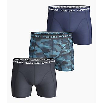 Bjorn Borg Shadeline Essential Boxer SHORTS 3-PACK - ECLIPSE TOTALE